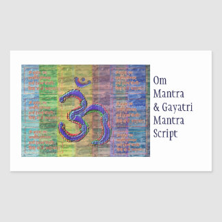 OM-Mantra Gayatri-Mantra Together Rectangular Sticker
