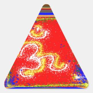 Om Mantra Glow Triangle Sticker