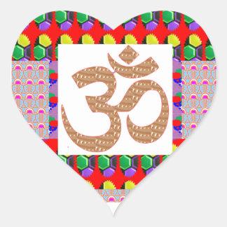 OM Mantra Gold INTENSE Devotion NVN189 NavinJOSHI Heart Sticker