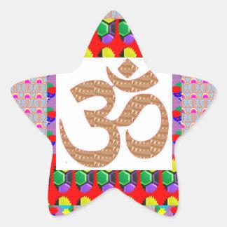 OM Mantra Gold INTENSE Devotion NVN189 NavinJOSHI Star Stickers