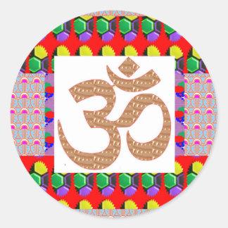OM Mantra Gold INTENSE Devotion NVN189 NavinJOSHI Stickers