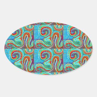 OM MANTRA Infinity - Display Meditate Chant Yoga Oval Sticker