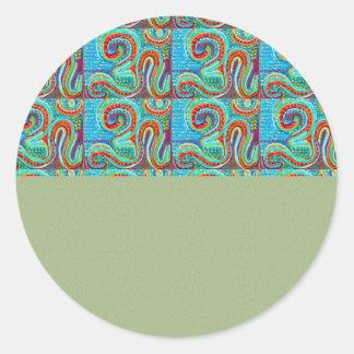 OM MANTRA Infinity - Display Meditate Chant Yoga Round Sticker