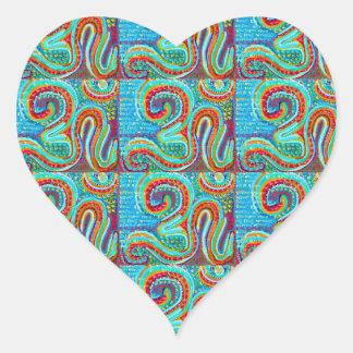 OM MANTRA Infinity - Display Meditate Chant Yoga Heart Stickers