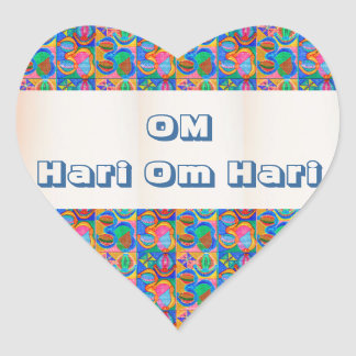 OM Mantra Matrix : Display n Give away use only Heart Sticker