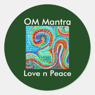 OM Mantra Om108 Round Sticker