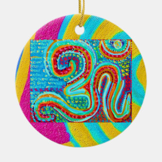 Om Mantra - Om written 108 times Christmas Ornament