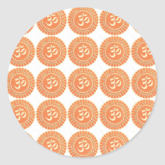 OM MANTRA -  OmMantra ALL OVER - DEDICATION Round Stickers