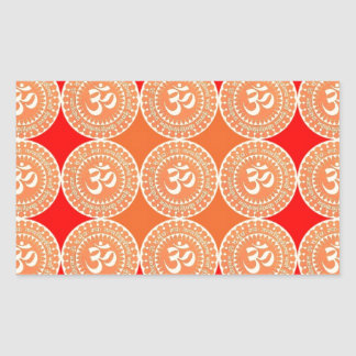OM MANTRA -  OmMantra ALL OVER Rectangle Stickers