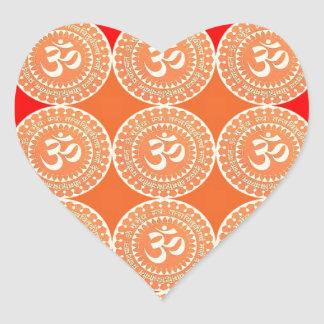 OM MANTRA - OmMantra ALL OVER Heart Stickers
