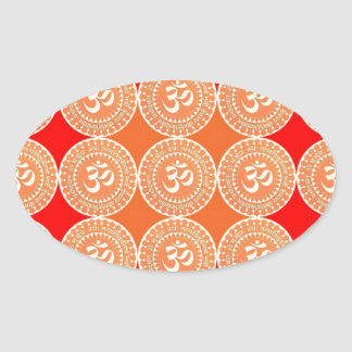 OM MANTRA -  OmMantra ALL OVER Oval Stickers