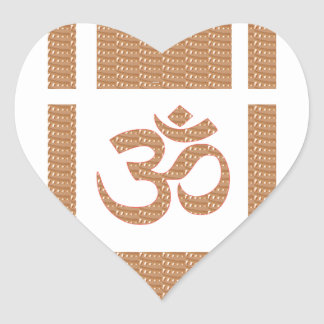 OM MANTRA OmMANTRA Chant Display Heal Peace Heart Sticker