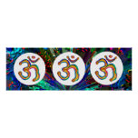 Om Mantra OmMantra Gold Round Posters