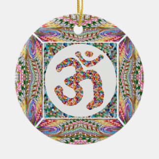 OM MANTRA OmMantra Hinduism Yoga Indian Peace Christmas Ornament