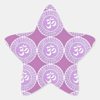 OM Mantra  : OMMANTRA  Purple Chant Star Sticker