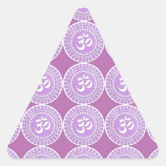 OM Mantra  : OMMANTRA  Purple Chant Triangle Sticker