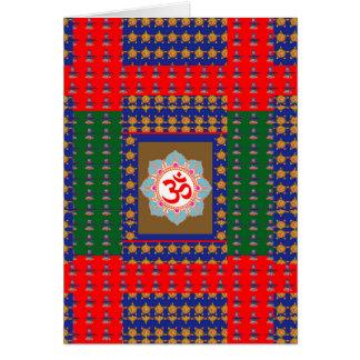 OM Mantra OmMantra ShivaLinga Hinduism Religion Greeting Card