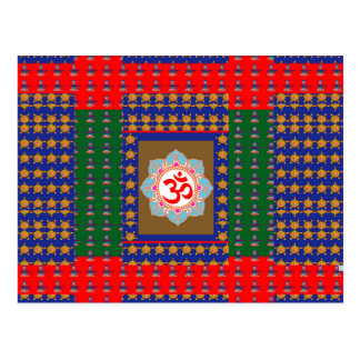 OM Mantra OmMantra ShivaLinga Hinduism Religion Postcard