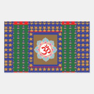 OM Mantra OmMantra ShivaLinga Hinduism Religion Rectangular Sticker
