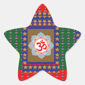 OM Mantra OmMantra ShivaLinga Hinduism Religion Star Sticker