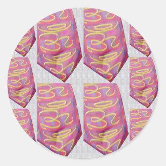 OM Mantra PURE ColorS ROLI MOLLY CHANDAN TURMERIC Round Stickers