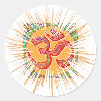 OM MANTRA Sparkle Round Sticker