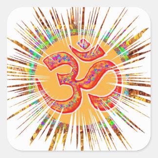 OM MANTRA Sparkle Square Sticker