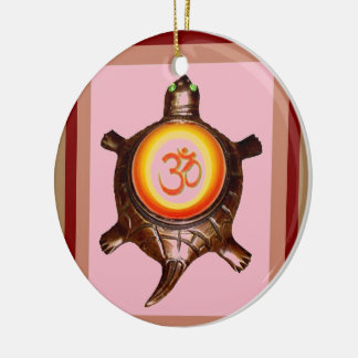 OM MANTRA SPIRITUAL HINDUISM SYMBOL YOGA MEDITATIO CHRISTMAS ORNAMENT