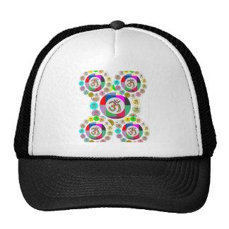 """OM Mantra Symbol : Chant n Meditate """"OM HARI OM"""" Trucker Hat"""