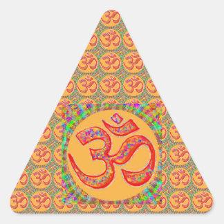 OM MANTRA Symbol : TRUE HOLY ROBE Color Triangle Sticker