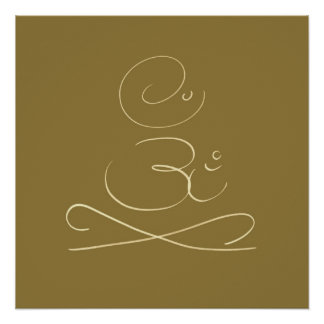 OM Meditation Posters
