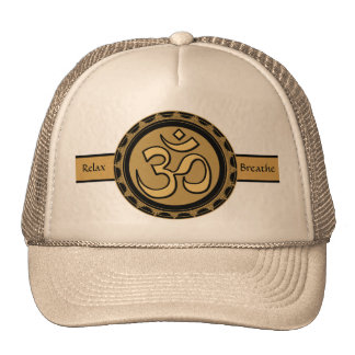 Om Meditation Relax & Breathe Hat