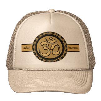 Om Meditation Relax & Breathe Hat