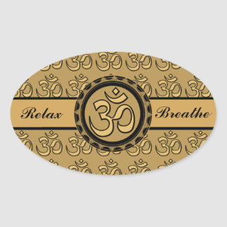 Om Meditation Relax & Breathe Sticker