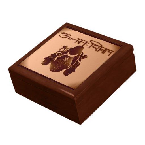 Om Nama Shivay2 Large Giftbox Trinket Boxes
