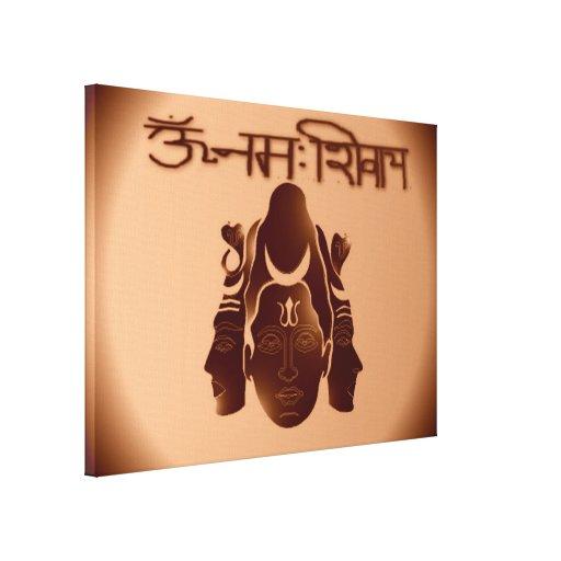 OM Nama Shivay2 Stretched Canvas Print