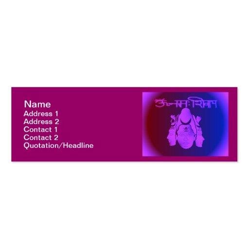 """Om Nama Shivay3 Skinny 3""""x1"""" Business Card"""