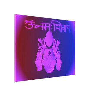 Om Nama Shivay3 Stretched Canvas Print