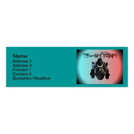 """OM Nama Shivay5 Skinny 3""""x1"""" Business Card"""