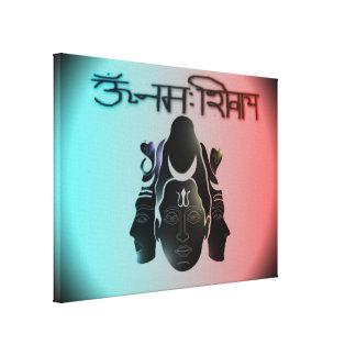 Om Nama Shivay5 Stretched Canvas Print