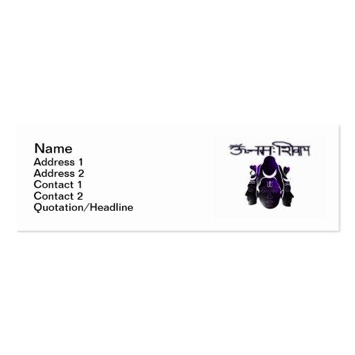 """Om Nama Shivay Skinny 3""""x1"""" Business Card"""
