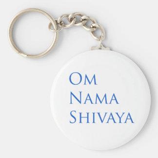 Om Nama Shivaya Basic Round Button Key Ring