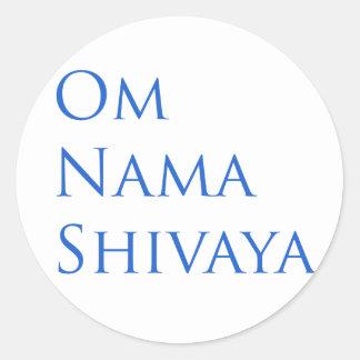 Om Nama Shivaya Classic Round Sticker