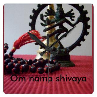 om nama shivaya square wallclock