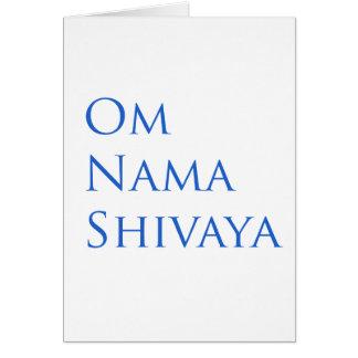 Om Nama Shivaya Greeting Card