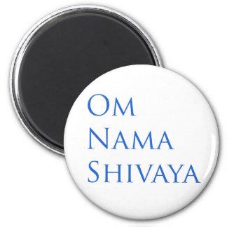 Om Nama Shivaya 6 Cm Round Magnet