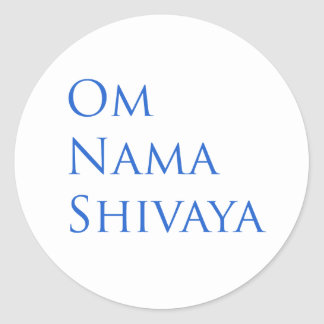 Om Nama Shivaya Round Sticker