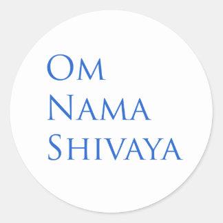 Om Nama Shivaya Round Stickers
