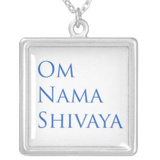 Om Nama Shivaya Square Pendant Necklace