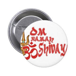Om Namah Shivaya 6 Cm Round Badge